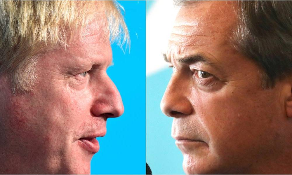 Boris Johnson will reject Nigel Farage's election offer of a Brexit alliance pact