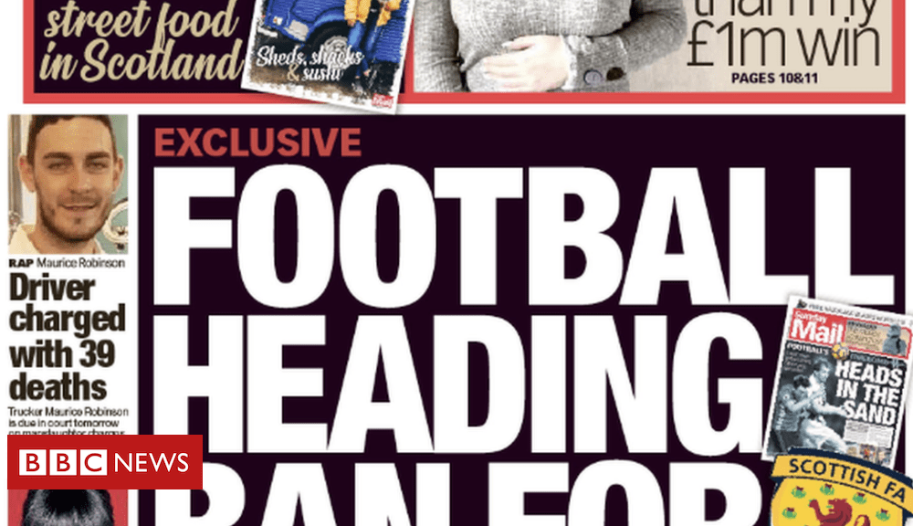 Scotland's papers: Football 'heading ban' for children