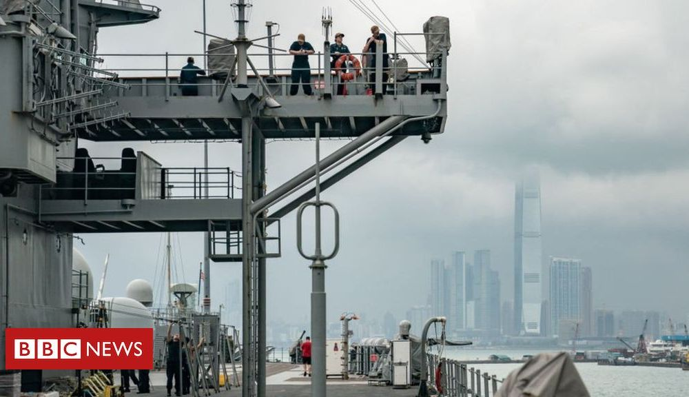 Trump China suspends US Navy visits to Hong Kong over support for protests