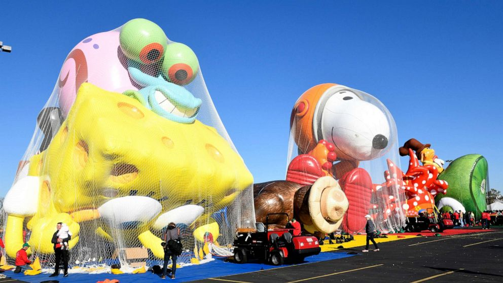 'Game day decision' whether character balloons at Thanksgiving Day parade will fly