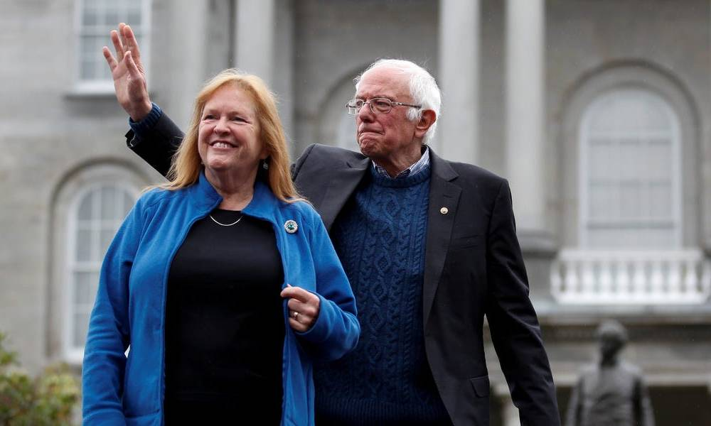 Bernie Sanders said 'on a good day, my wife likes me' in response to Hillary Clinton's statement that 'nobody' likes him