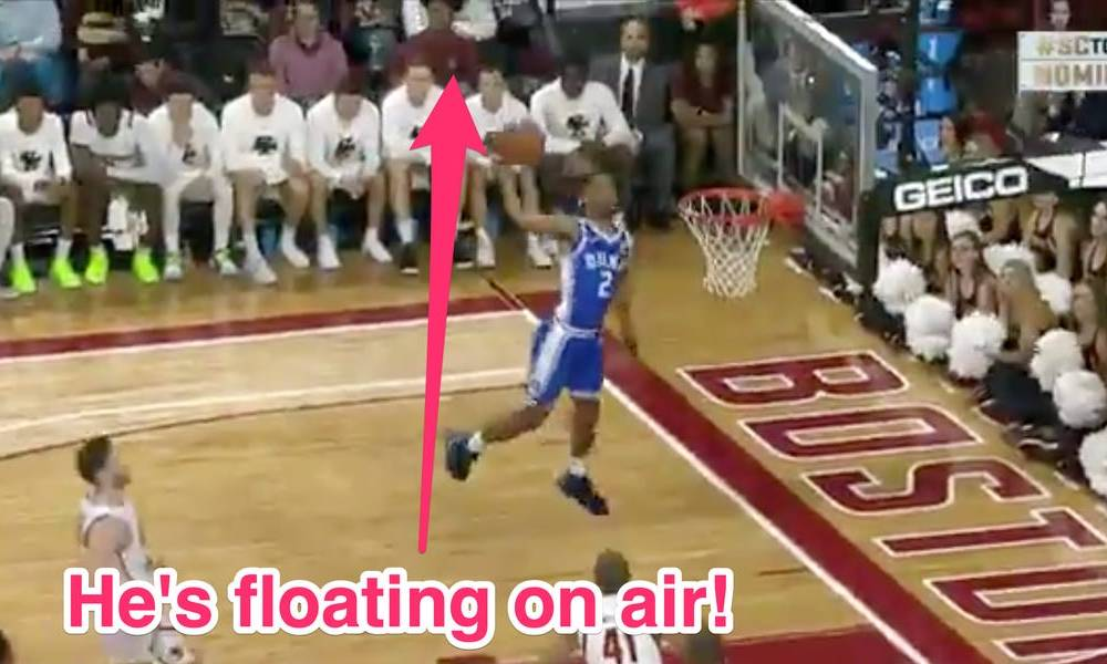 Duke's Cassius Stanley showed his jaw-dropping leaping ability with a Zion Williamson-like one-handed dunk