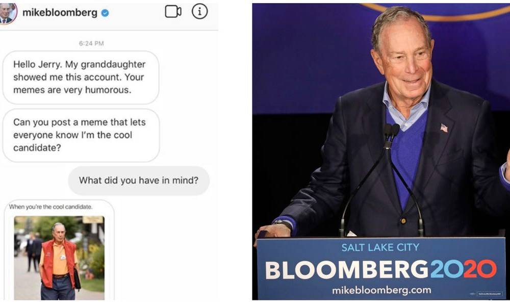 Popular meme accounts on Instagram are suddenly posting for Mike Bloomberg's 2020 campaign