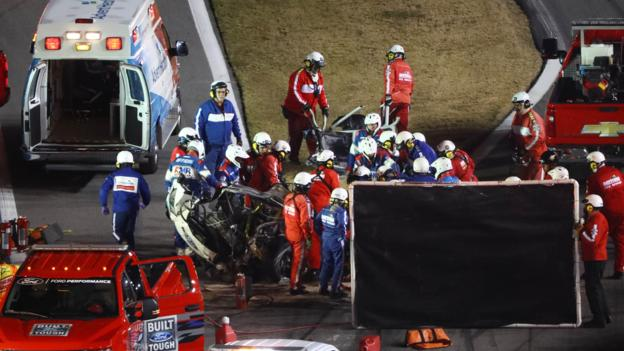 Trump Newman in 'serious but not life threatening' condition after Daytona 500 crash