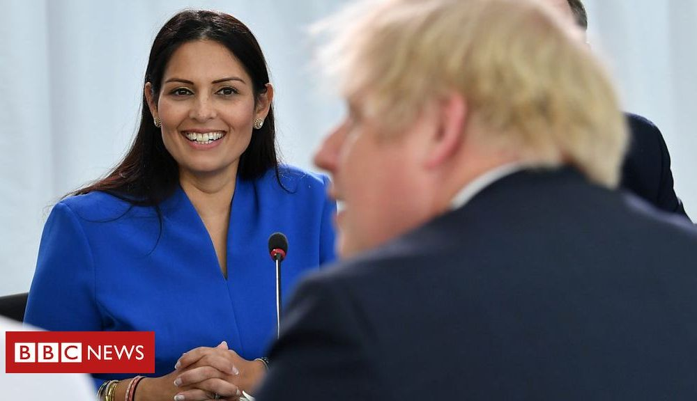 Prime Minister Boris Johnson defends home secretary Priti Patel over bullying claims