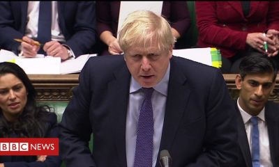 PMQs: Corbyn and Johnson clash on floods response