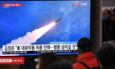 Trump North Korea 'fires two missiles in first test of the year'