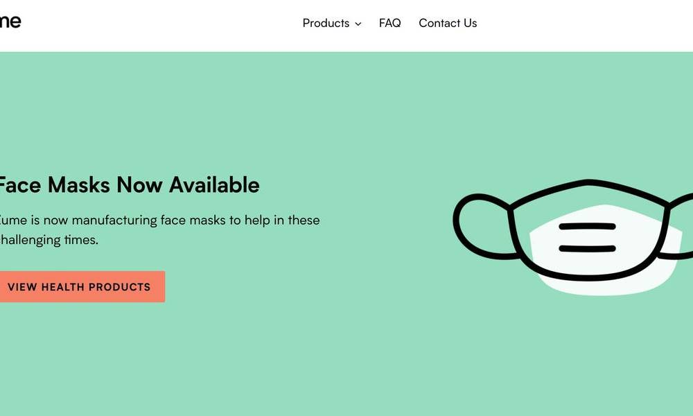 Former robotics startup Zume is now selling face masks and appears to have stopped producing the food packaging that it refocused its business on in January