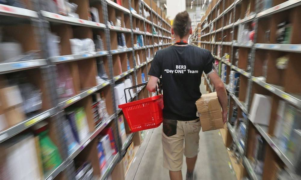 Amazon just signed a lease on a huge NYC warehouse used by one-time rival Jet.com. The e-commerce giant has been gobbling up industrial space as demand for deliveries surges.
