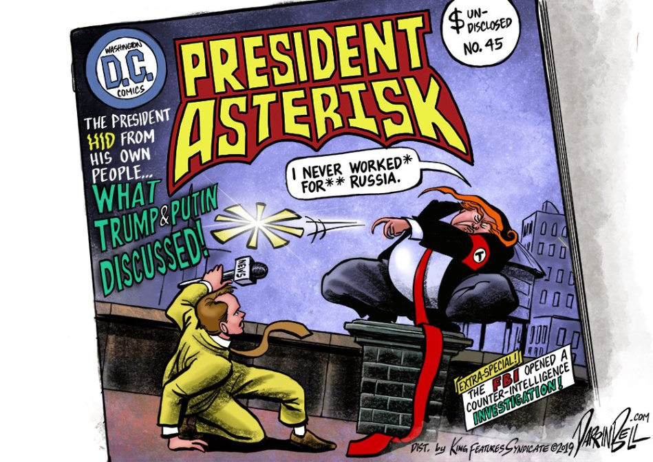 Is Donald Trump a Russian Asset? (a cartoon)