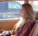 Lauren riding next to me