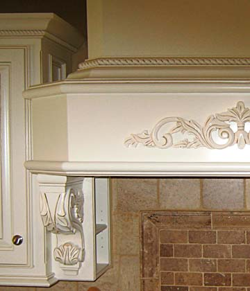 Darryns Custom Cabinets Hand Carved Corbels Toe Kick Lighting Fully Customized Cabinets For