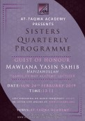 Sisters Quartlerly Programme at AT-Taqwa
