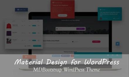 Material Design for WordPress – MDBootstrap WordPress Theme