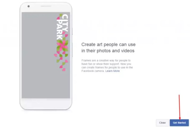 getting start to create Facebook frame on Camera Effects