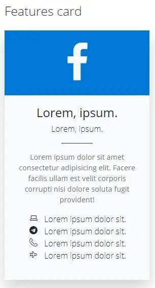 features card- Fluent Design UI