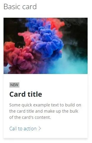 simple card- Fluent Design UI