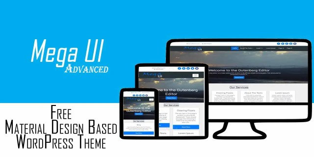 Mega UI Advanced Material Design Blogging WordPress Theme
