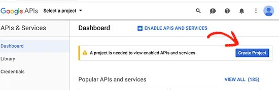 creating api in google APIs
