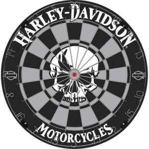Harley-Davidson-Skull-Bristle-Dartboard