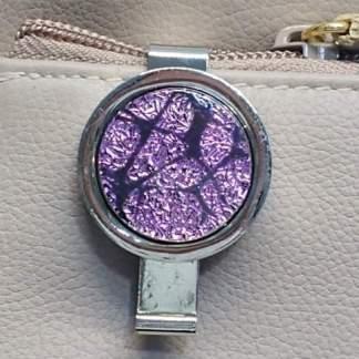 Magenta Dichroic Key Finder with Mosaic Pattern