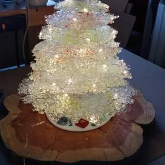 Large Crushed Glass Christmas Tree