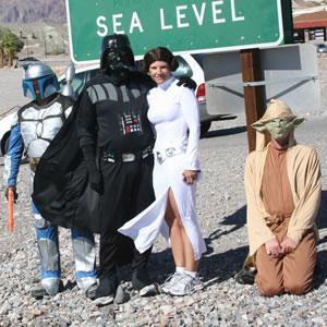 Princess Leia, Yoda, Jango Fett and Darth Vader in Death Valley, 2012