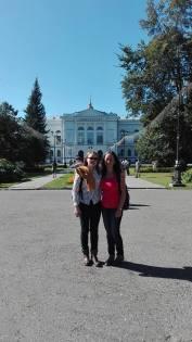 Me & Iona outside Tomsk State University