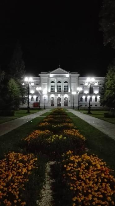 Tomsk State University at night