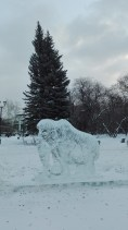 One of the many ice sculptures in Tomsk