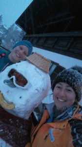 Barbara, the snowman and me
