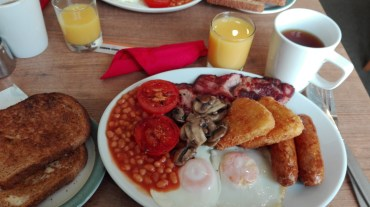 the long-awaited full English breakfast