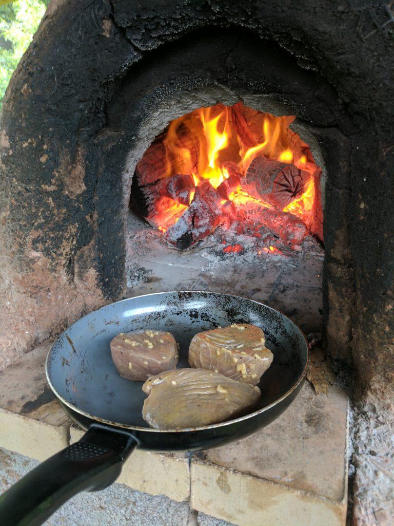 Rocombe Retreat Cob Oven
