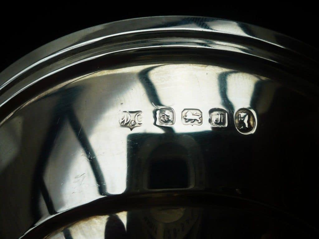 Silver Pedestal Bowl Art Deco Birmingham Wilson