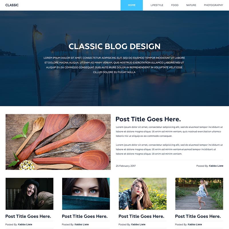 Dart Blog – HTML Template