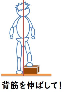 背筋を伸ばすイラスト