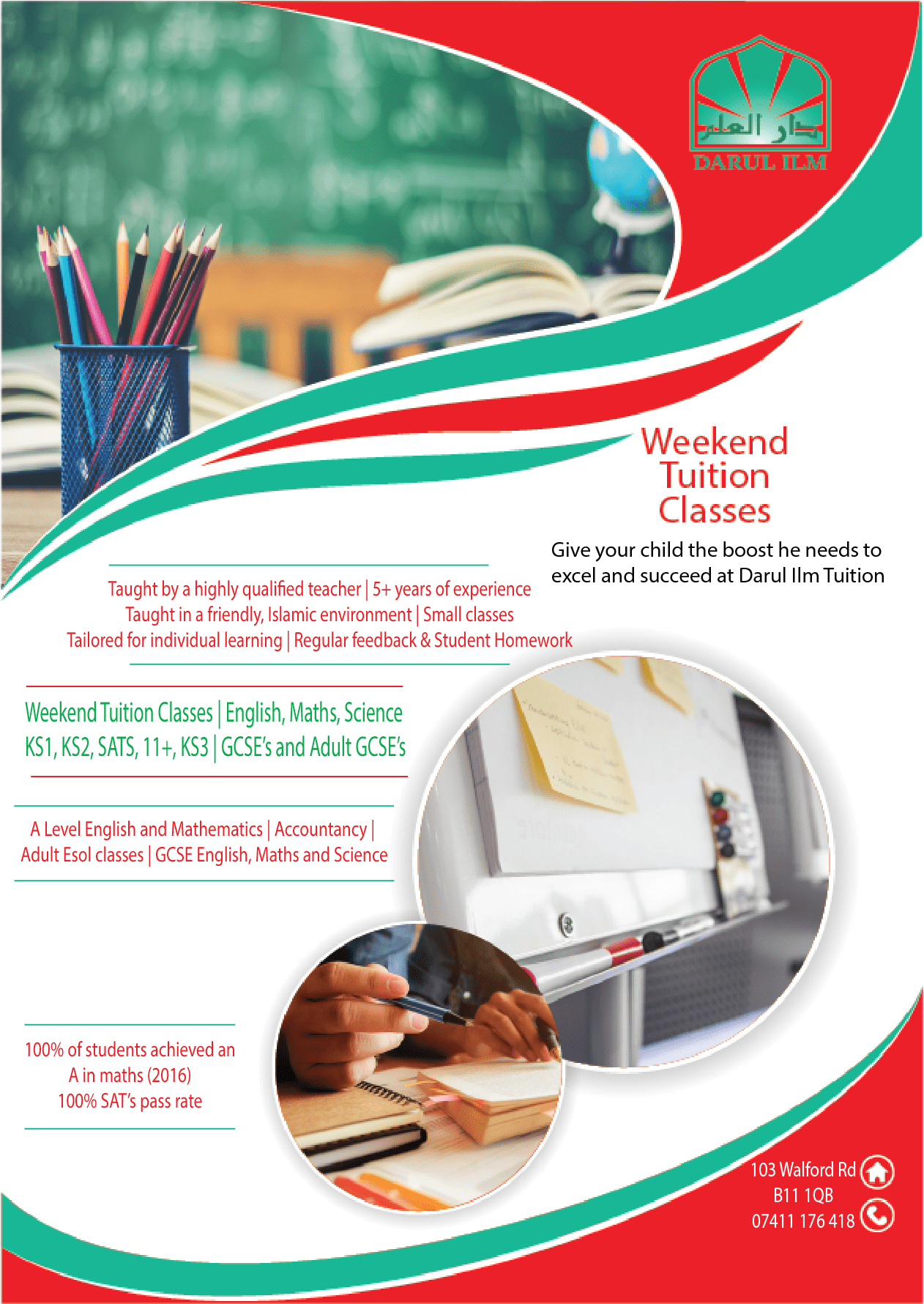 Weekend Tuition Classes