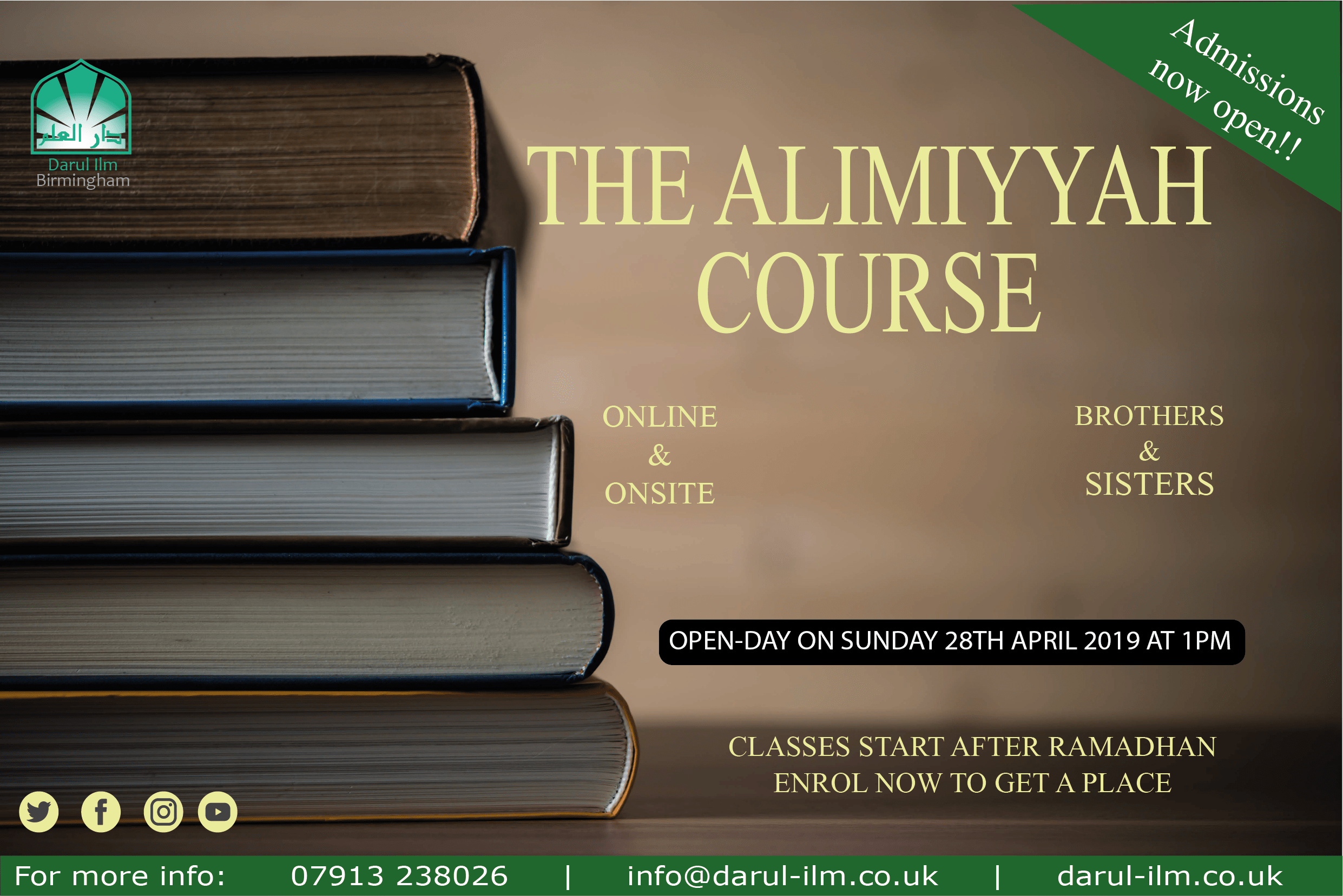 Alim Course (Online & On-Site)