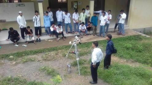 Dauroh astronomi Ponpes Darul Fithrah bersama CASA