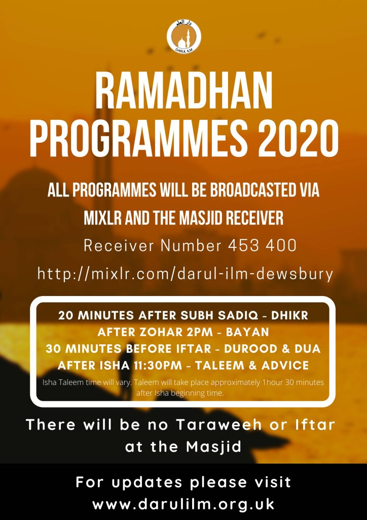 Darul Ilm Ramdhan Programs 2020