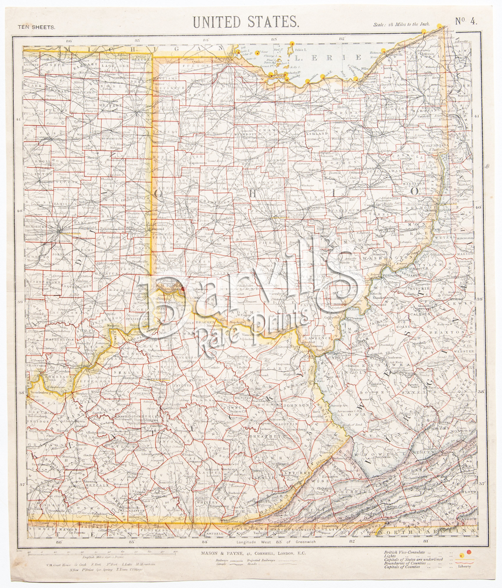 Antique Maps Of American Regions And State Letts