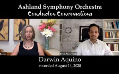 Darwin Aquino's new interview with Martha Buckner, of the Ashland Symphony Orchestra
