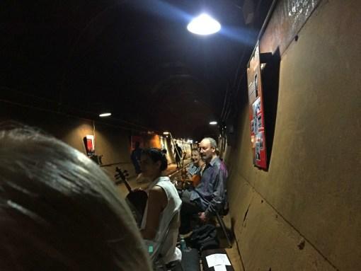 String ensemble waiting before show begins