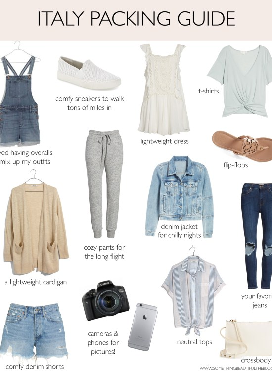 fashion blogger daryl-ann Denner shares a packing guide what to wear in Italy