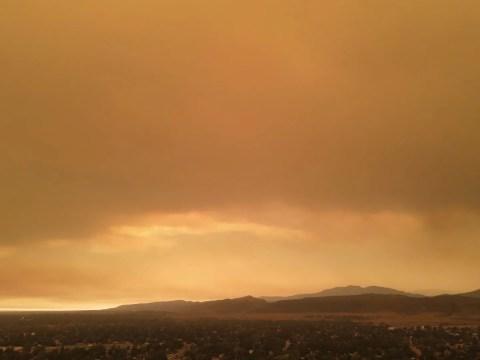 cameron peak fire sky fort collins colorado