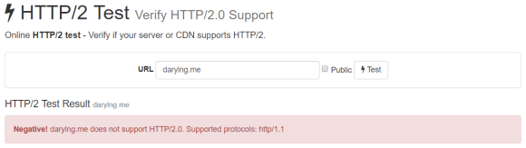 HTTP/2 not enabled