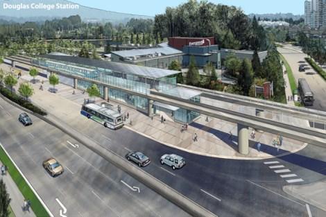 Concept: Douglas-Lafarge Lake SkyTrain Station on the Evergreen Line SkyTrain