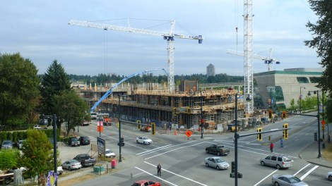 Surrey City Hall construction. Photo credit: Neg Ratarajan https://secure.flickr.com/photos/regnatarajan/8021235672/