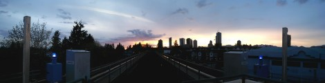 Metrotown's growing skyline, as seen from Royal Oak SkyTrain Station