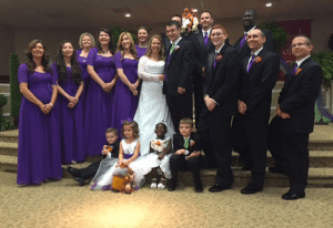 You have to wonder if there are some future couples among those adorable kids in Brooke and Adrian's wedding party.